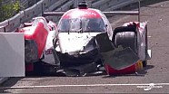 24u Le Mans: #44 Manor Racing crash