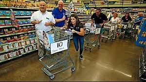 Danica Speeds Through Supermarket