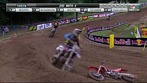 Southwick 250 Moto 2: McElrath goes down hard