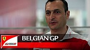 The Belgian GP with Riccardo Adami - Scuderia Ferrari 2016