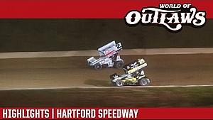 World of Outlaws Craftsman Sprint Cars Hartford Speedway September 21st, 2016 | Highlights