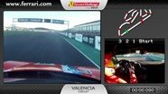 Ferrari 458 Challenge on board cam: Alessandro Balzan in Valencia