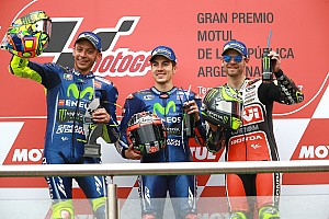 MotoGP Race report Argentina MotoGP: Marquez crash sets up dominant Vinales victory