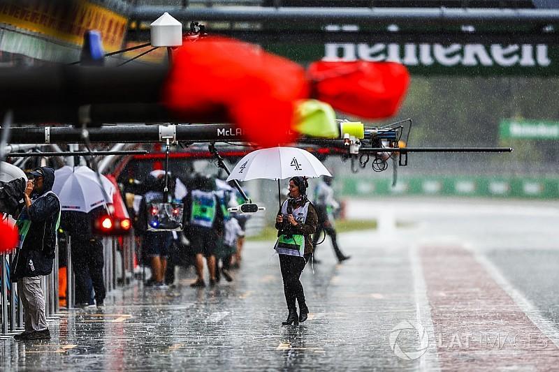 Monza, Libere 3: sessione ridotta per pioggia con due Williams davanti