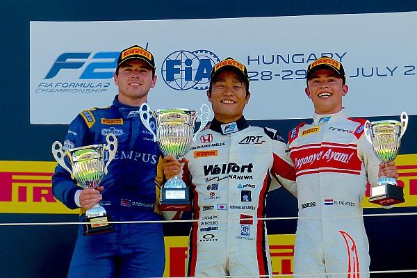 FIA F2 速報ニュース 【F2ハンガロリンク】レース2完勝の松下「ちゃんと仕事すればF1に乗れると信じている」