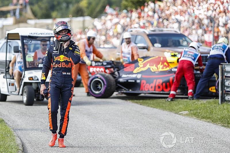 Verstappen se desculpa por rádio com palavrões após abandono