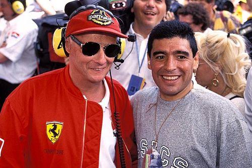 Quand Diego Maradona rencontrait des légendes des sports mécaniques