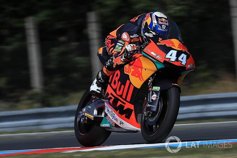 Moto2 Brno: Oliveira verslaat Marini, crash Bendsneyder