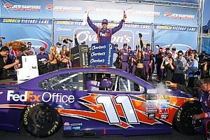 NASCAR Cup Rennbericht NASCAR in Loudon: Denny Hamlin holt 1. Sieg 2017 für Joe Gibbs Racing