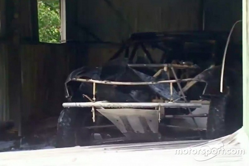 Peter Brock's Dakar car destroyed in fire