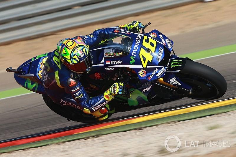 """Apesar da primeira fila, Rossi espera """"sofrer"""" em Aragón"""