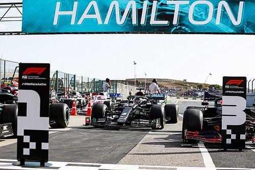 La parrilla de salida del GP de Portugal F1: posiciones y filas
