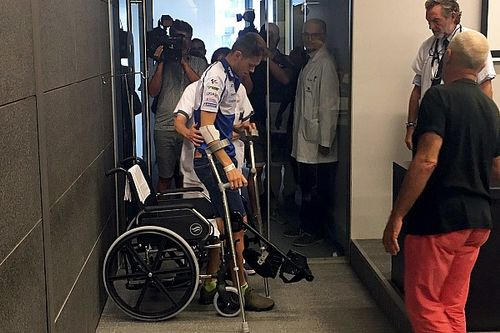 "Rabat's leg ""twisted like an S"" in Silverstone crash"