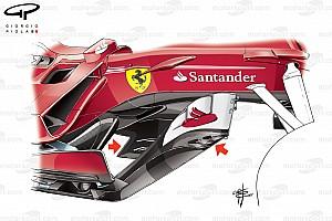 Formule 1 Diaporama Bilan technique - Les évolutions de la Ferrari SF70H