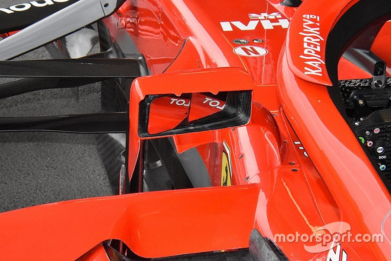 Технический анализ: зачем Ferrari заострила зеркала заднего вида
