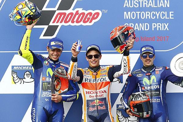MotoGP Race report Australian MotoGP: Marquez edges clear of frantic battle for victory