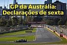 Fórmula 1 VÍDEO: As declarações dos pilotos após a sexta na Austrália