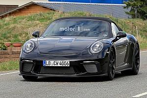 Auto Actualités La Porsche 911 Speedster surprise en essais