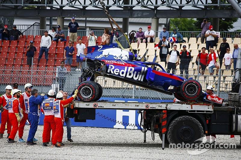 Toro Rosso-coureurs reden voor ruim twee miljoen schade in 2018