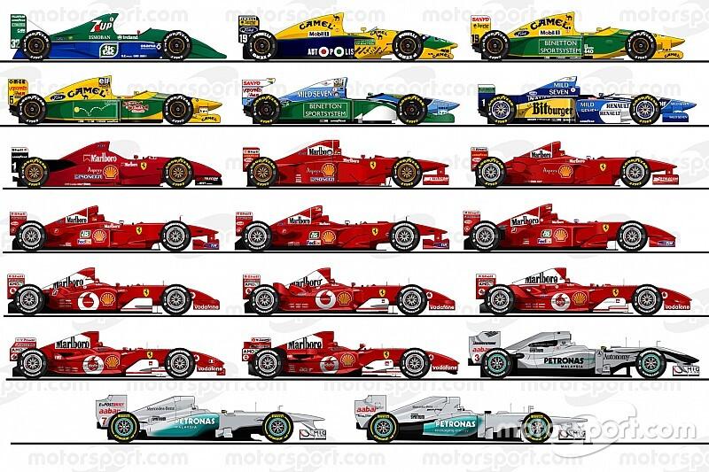 Fotogallery: le 20 monoposto pilotate da Michael Schumacher nel corso della sua carriera in F1