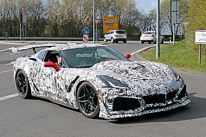 Automotive Breaking news 2018 Chevrolet Corvette ZR1 spied testing at the Nurburgring
