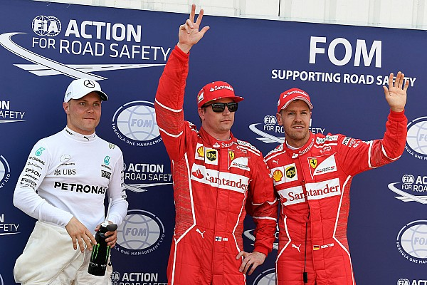 F1 Reporte de calificación Raikkonen logra la pole en un 1-2 de Ferrari y Hamilton es eliminado en la Q2