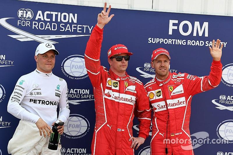 Raikkonen logra la pole en un 1-2 de Ferrari y Hamilton es eliminado en la Q2