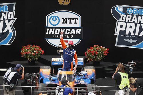 Dixon gana por primera vez el GP de Indianápolis y O'Ward en top 10