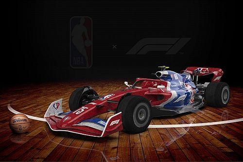 Penampilan Mobil-mobil F1 dalam Balutan Livery NBA