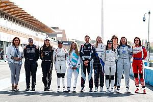 Las fotos del test más femenino de Fórmula E