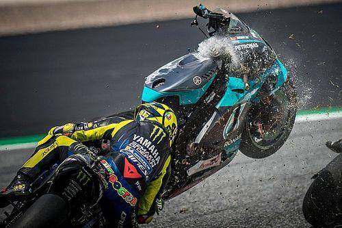 "Rossi reveals he ""didn't even see"" Morbidelli's flying bike"
