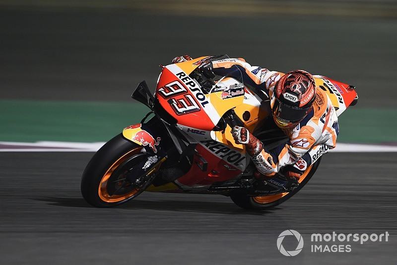 MotoGP, Losail, Libere 2: Marquez mostruoso, Rossi sprofonda 17esimo