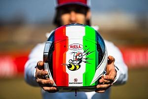 Giovinazzi svela il suo casco 2019: c'è il tricolore in evidenza e l'ape portafortuna pronta a pungere