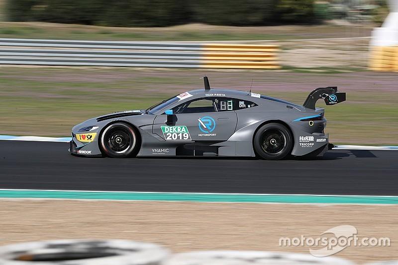Первые километры Aston Martin Vantage DTM: видео