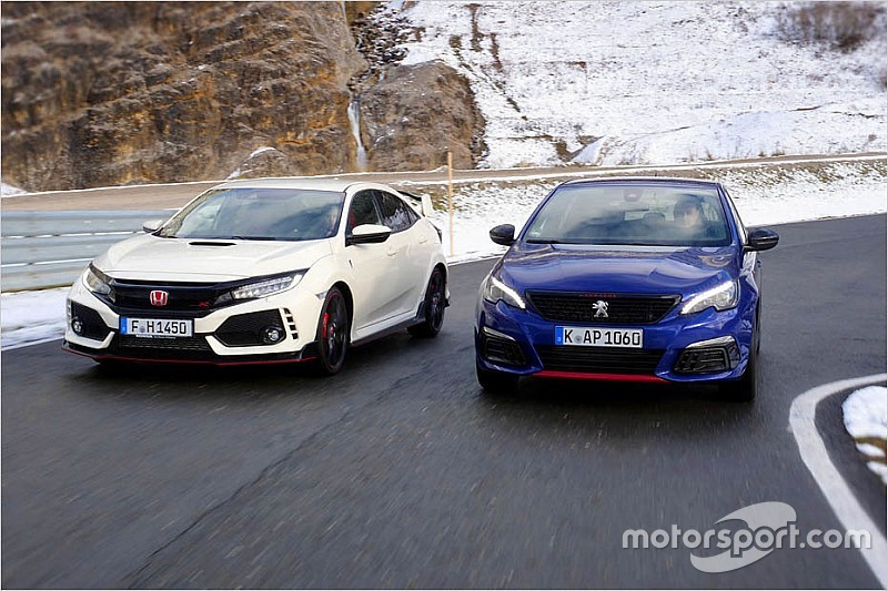 Video: Honda Civic Type R vs. Peugeot 308 GTi im Test