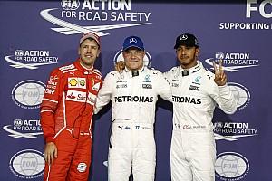 Abu Dhabi GP: Sezonun son pole pozisyonu Bottas'ın, Mercedes 1-2!