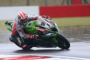 World Superbike Practice report Donington WSBK: Rea tops rain-hit practice, Davies crashes