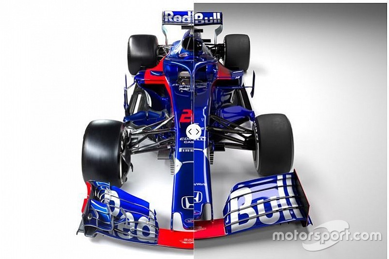 Slide view: Compare the Toro Rosso STR14 versus 2018 car