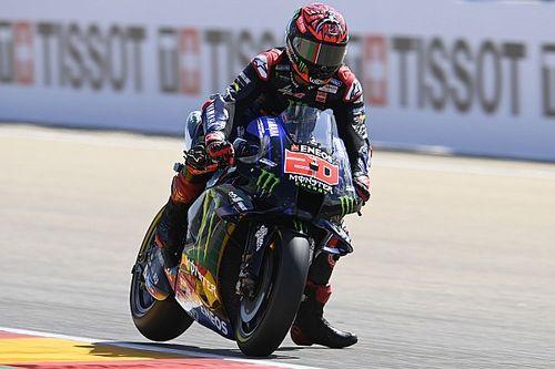 Aragon MotoGP: Quartararo tops FP3 as Marquez crashes again