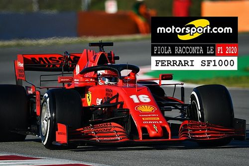 Video, Piola racconta le Formula 1 2020: Ferrari SF1000