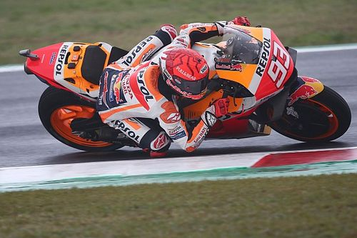 """Marquez """"lost all confidence"""" after """"lucky"""" Misano MotoGP Q2 save"""