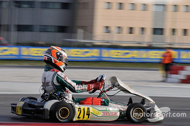 Travisanutto wins WSK Super Masters race at Sarno as Joyner spins
