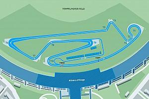 Formel E News Streckenlayout für Formel E am Flughafen Tempelhof in Berlin steht