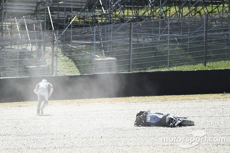 """Maverick Vinales nach MotoGP-Crash in Mugello: """"Meine Finger brannten"""""""