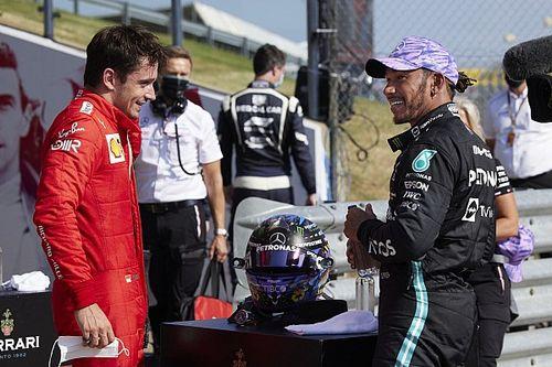 Hamilton impressionné par la progression de Leclerc chez Ferrari