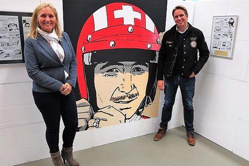 Zwei französische Autoren arbeiten an einem Comicstrip über Jo Siffert