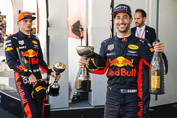 Red Bull: l'intenzione è di tenere Ricciardo e Verstappen fino al 2020