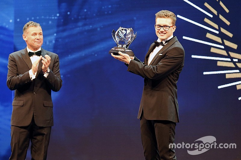 Hansen named 2016 Rookie of the Year at FIA Gala