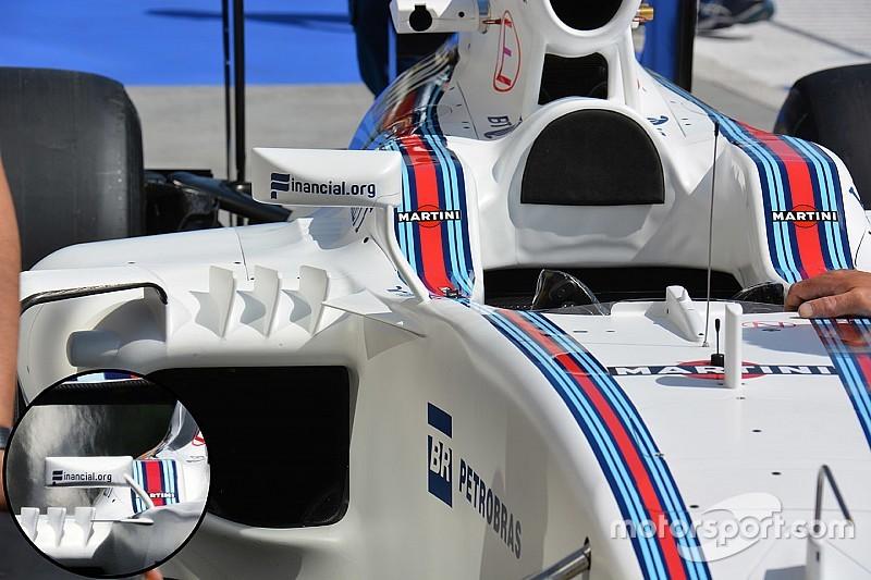 Технический брифинг: крепление зеркал Williams FW38