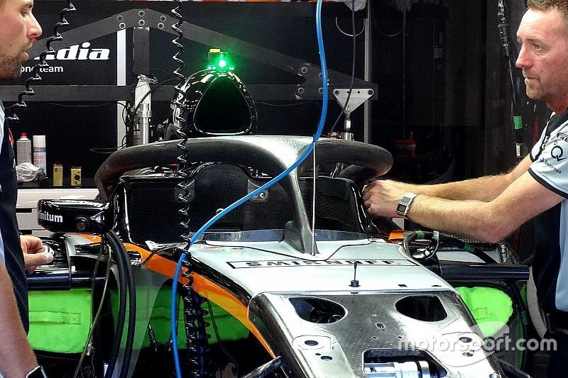 Anche Hulkenberg prova l'Halo nelle libere del venerdì a Spa